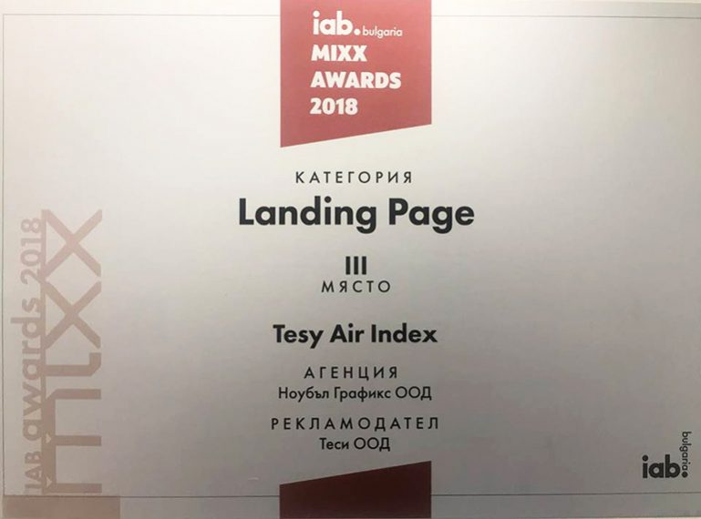 TESY Clean Air Campaign won award at IAB MIXX Awards 2018