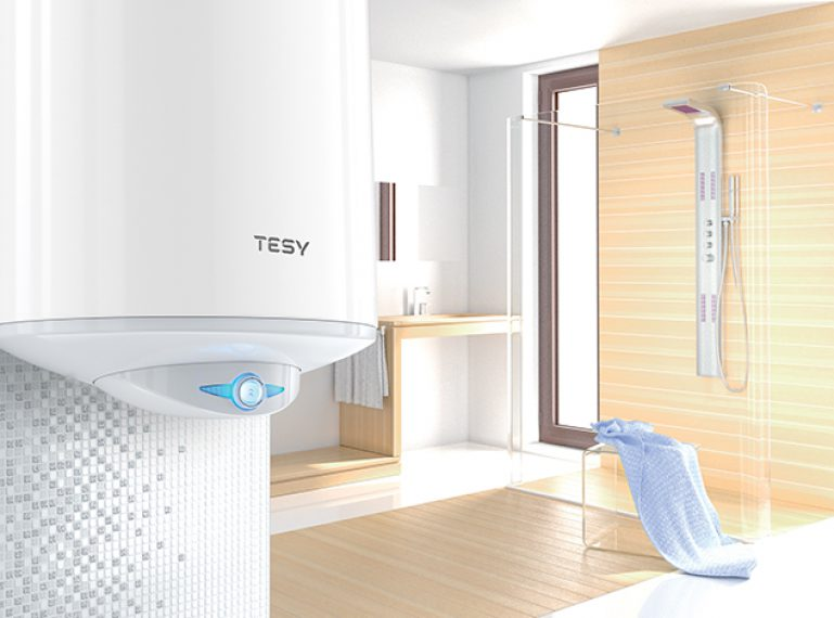 Renovated design and stylish appearance of the product that guarantees perfect limescale protection by TESY – Anticalc.