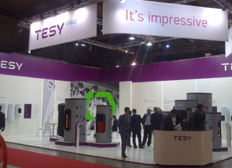 TESY OOD made the world premiere of its new corporate identity at the international trade exhibition Mostra Convegno Expocomfort 2014 in Milan