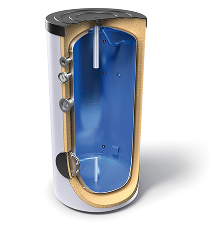 Buffer tanks for domestic hot water